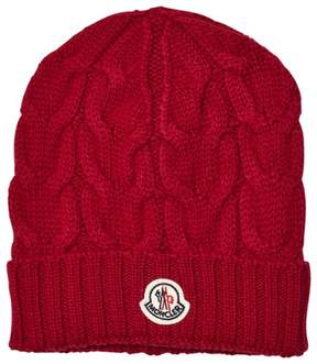 Moncler Red Wool Beanie