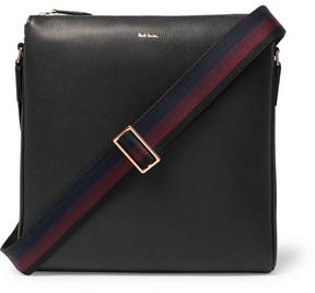 Paul Smith Webbing-Trimmed Full-Grain Leather Messenger Bag