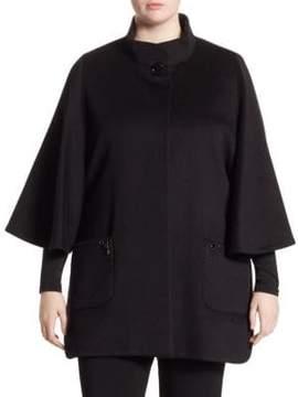 Cinzia Rocca Cinzia Rocca, Plus Size Plus Jewel Wool Capelet
