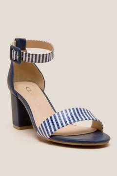 Laundry by Shelli Segal Cl By CL by Striped Block Heel - Navy