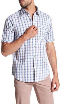 James Campbell Poston Plaid Short Sleeve Regular Fit Shirt