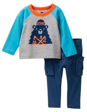 Tea Collection Munro Bear Outfit (Baby Boys)