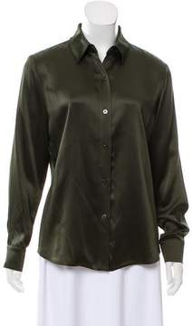 Ellen Tracy Linda Allard Satin Button-Up Top w/ Tags