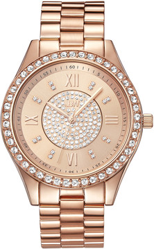 JBW Mondrian Rose Gold-tone Diamond Dial 18k Rose Gold Plated Stainless Steel Ladies Watch