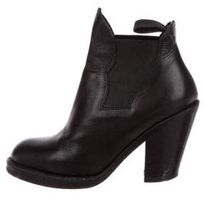 Acne Studios Leather Round-Toe Ankle Boots