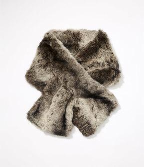 LOFT Mixed Faux Fur Pull Through Scarf