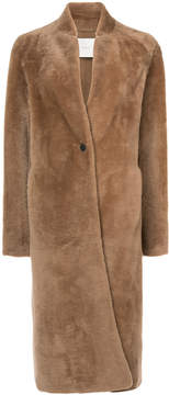 ADAM by Adam Lippes Shearling long car coat
