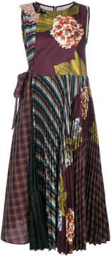 Antonio Marras contrast print pleated dress