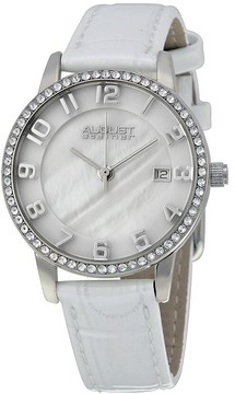 August Steiner Mother of Pearl Dial Silver-Tone Ladies Watch