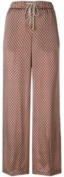 Peserico diamond pattern palazzo pants
