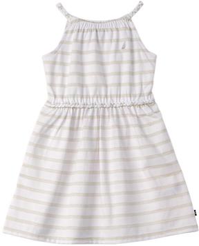 Nautica Girls' Knit Lurex Stripe Dress