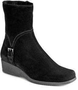La Canadienne Laverna Waterproof Suede Wedge Boots