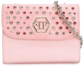 Philipp Plein Junior studded rhinestones shoulder bag