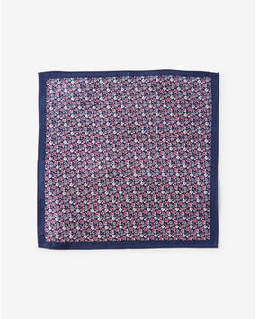 Express floral print silk pocket square