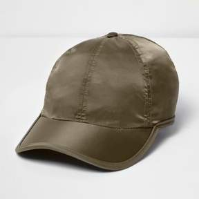 River Island Mens Khaki green satin feel cap