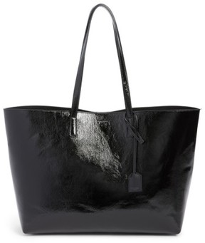 Saint Laurent East/west Leather Tote - Black - BLACK - STYLE