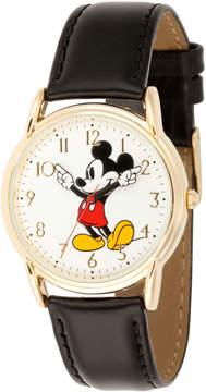 Disney Mickey Mouse Mens Black Strap Watch-Wds000405
