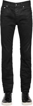 Diesel Black Gold 16cm Waxed Skinny Stretch Denim Jeans
