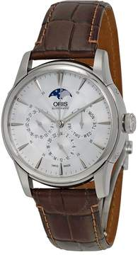 Oris Artelier Complication 2014 Silver Dial Dark Brown Leather Men's Watch 01 781 7703 4051-07 5 21 70FC