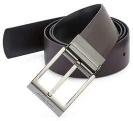 Salvatore Ferragamo Square Buckle Leather Belt