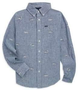 Ralph Lauren Little Boy's& Boy's Embroidered Chambray Shirt