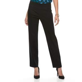 Dana Buchman Women's Pull-On Straight-Leg Pants