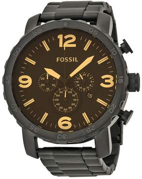 Fossil Nate Chronograph Black Ion-plated Men's Watch