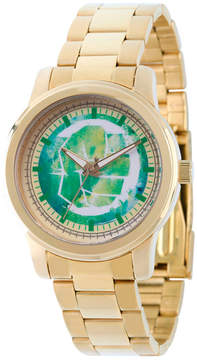 Marvel Classic Mens Gold Tone Strap Watch-Wma000056