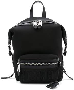 Moschino neoprene logo backpack