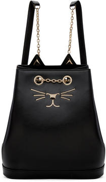 Charlotte Olympia Black Feline Backpack