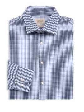 Giorgio Armani Modern-Fit Plaid Dress Shirt