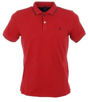 Jaggy Men's Red Cotton Polo Shirt.