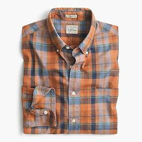 J.Crew Secret Wash shirt in heather poplin plaid