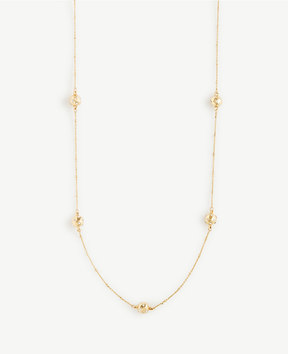 Ann Taylor Pave Hammered Station Necklace