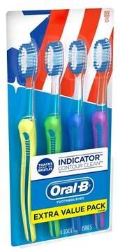 Oral-B Indicator Contour Clean Soft Bristle Manual Toothbrush - 4ct
