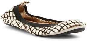 Yosi Samra Genuine Calf Hair Foldable Flat