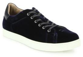 Gianvito Rossi Velvet Lace-Up Sneakers