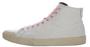 Saint Laurent Canvas High-Top Sneakers