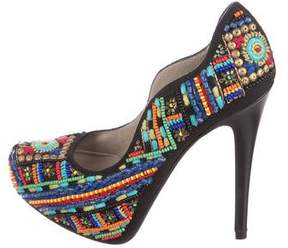Donald J Pliner & Lisa Signature Beaded Platform Pumps