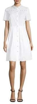 Elie Tahari Samiyah Fit-&-Flare Shirt Dress