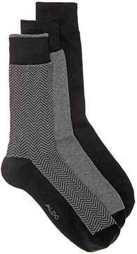Aldo Men's Herringbone Men's's Crew Socks - 3 Pack