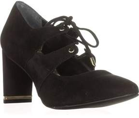 Alfani A35 Binddi Block Heel Lace Up Mary Jane Pumps, Black.