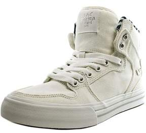 Supra Vaider Youth Round Toe Canvas White Skate Shoe.