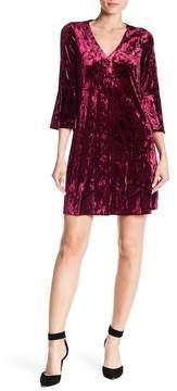 Eliza J Bell Sleeve Crushed Velvet Dress