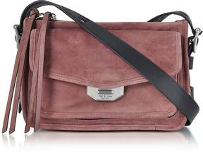 Rag & Bone Mauve Suede Small Field Messenger Bag