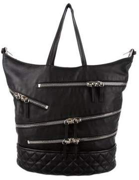 Giuseppe Zanotti Quilted Leather Bucket Tote