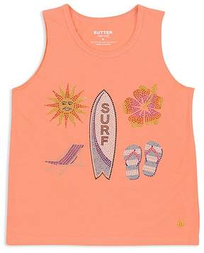 Butter Shoes Girls' Embellished Surf Beach Tank - Big Kid