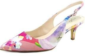 Alfani Babbsy Women Pointed Toe Synthetic Multi Color Slingback Heel.