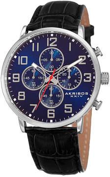 Akribos XXIV Mens Black Strap Watch-A-854ssbu