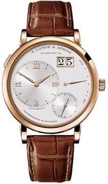 A. Lange & Söhne A. Lange and Sohne Grand Lange 1 117.032 18K Rose Gold Silver Dial 40.9mm Mens Watch